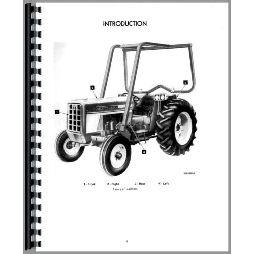 international harvester 674 tractor operators manual (diesel only) International 444 Tractor Wiring Diagram