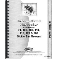 International Harvester 100 Mower Parts Manual