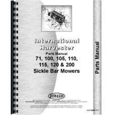 International Harvester 115 Mower Parts Manual