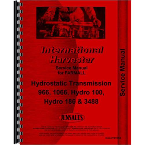 International Harvester 186 Hydro Tractor Service Manual