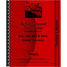 International Harvester 744 Tractor Operators Manual