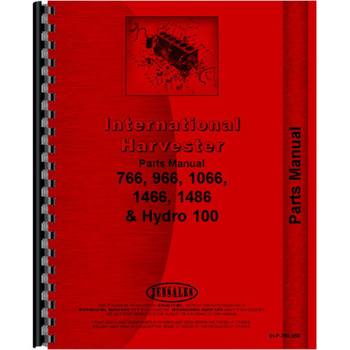 Farmall 1066 Tractor Parts Manual (Chassis)Jensales