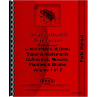 International Harvester Super A Tractor Implement Attachments Parts Manual