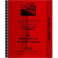 Farmall BN Tractor Operators Manual (all sn#)