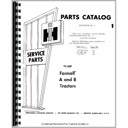 Farmall B Parts Diagram - Wiring Diagram Update on