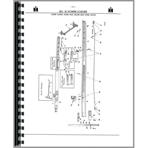 International Harvester 31 Loader Attachment Parts Manual (1950-1956)