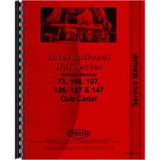 International Harvester Cub Cadet 107 Lawn & Garden Tractor Service Manual