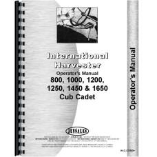 International Harvester Cub Cadet 800 Lawn & Garden Tractor Operators Manual