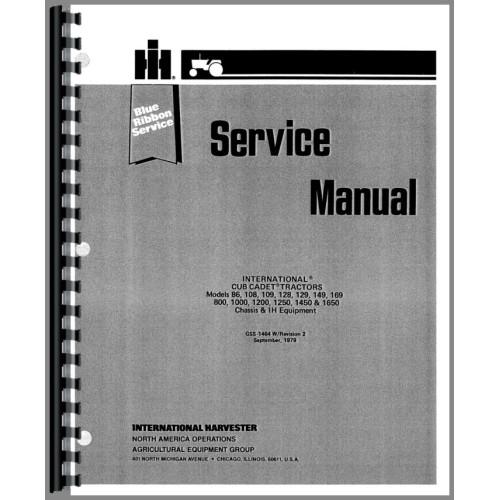international harvester cub cadet 1450 lawn garden tractor service rh jensales com cub cadet 1450 manual free Cub Cadet 1450 Parts Breakdown