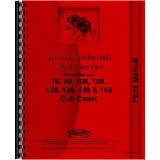 International Harvester Cub Cadet 149 Lawn & Garden Tractor Parts Manual