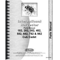International Harvester Cub Cadet 782 Lawn & Garden Tractor Parts Manual