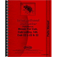International Harvester Cub Lo-Boy Tractor 22 Sickle Bar Mower Parts Manual
