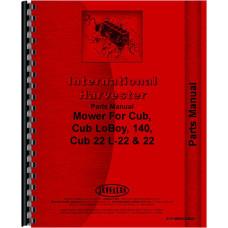 International Harvester Cub Lo-Boy Tractor 22 Sickle Bar Mower Parts Manual