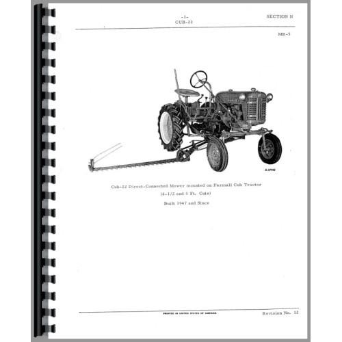 International sickle bar mower Parts owner s manual