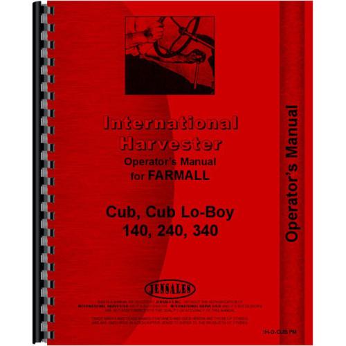farmall cub maintenance manual