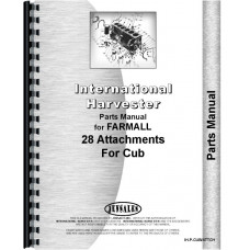 International Harvester Cub Lo-Boy Tractor Attachments Parts Manual (with Attachments)