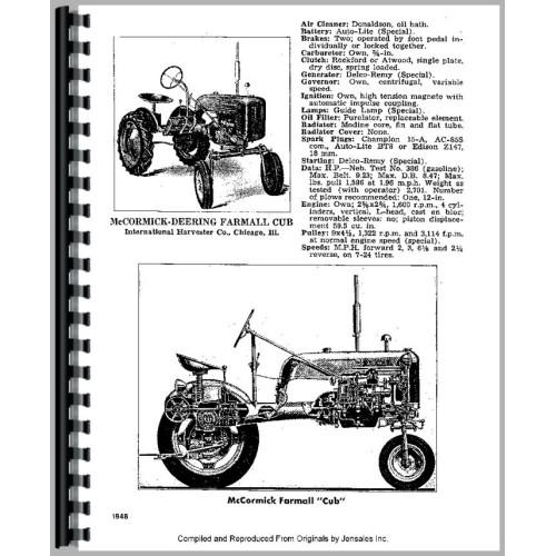 Farmall Cub Lo-Boy Tractor Service Manual (1955-1968)