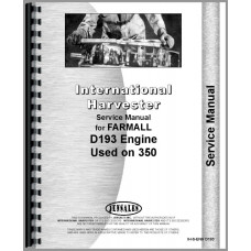 International Tractor Engine & Engine Service Manual (IH-S-ENG D193)