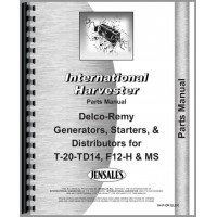 Image of International Harvester Delco Remy Equipment Parts Manual