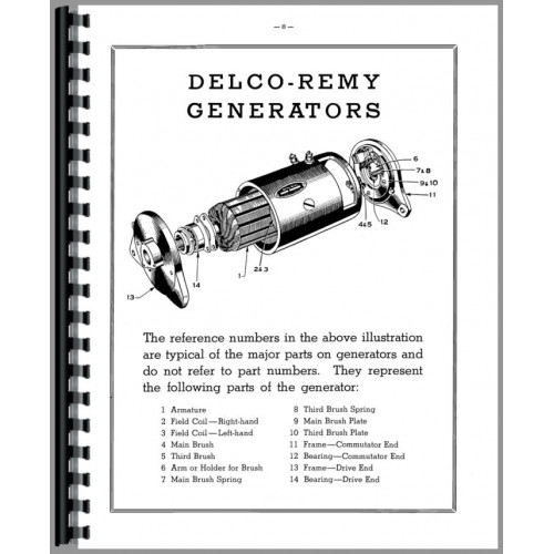 International Harvester Delco Remy Equipment Parts Manual