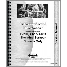 International Harvester E200 Elevating Pay Scraper Service Manual (SN# 2101 and Up) (Chassis)