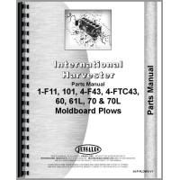 International Harvester 60 Plow Parts Manual