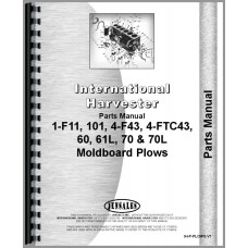 International Harvester 60L Plow Parts Manual