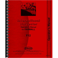 Farmall F12 Tractor Operators Manual