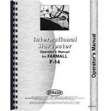 Farmall F14 Tractor Operators Manual