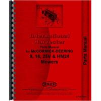 Image of International Harvester 16 Mower Parts Manual