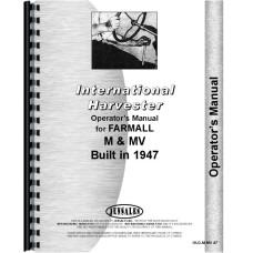 Farmall M Tractor Operators Manual (M Tractor)