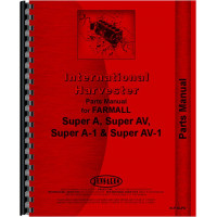 International Harvester Super A Culti-vision Tractor Parts Manual