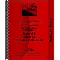 International Harvester Super A Culti-vision Tractor Operators Manual