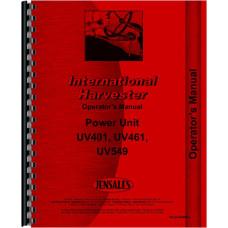 International Harvester UV461 Power Unit Operators Manual