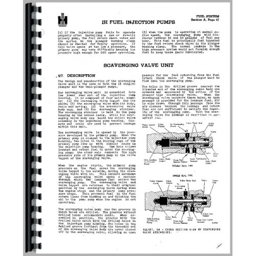 International Harvester UD264 Power Unit Bosch Diesel Pump Service Manual