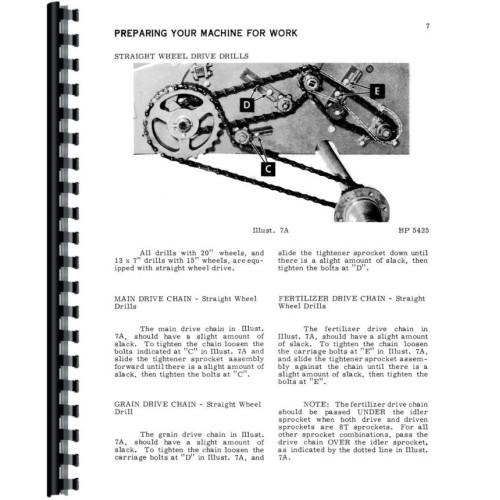International Harvester 510 Grain Drill Operators Manual