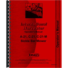 International Harvester C-21M Mower Operators Manual (Sickle Bar Mower)