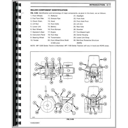 Massey Ferguson 1240 Tractor Service Manual (1992-1999)