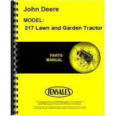 John Deere 317 Lawn & Garden Tractor Parts Manual