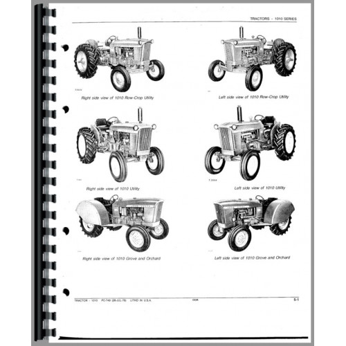 john deere 1010 tractor parts manual rh jensales com 1941 John Deere Parts for Model 1962 John Deere 1010