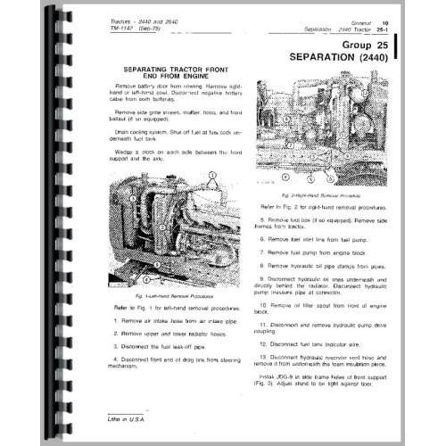 john deere 2640 tractor service manual sn 0 340 999 rh jensales com 1980 john deere 2640 wiring diagram 1980 john deere 2640 wiring diagram