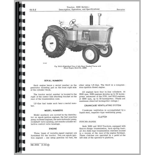 john deere 3020 owners manual