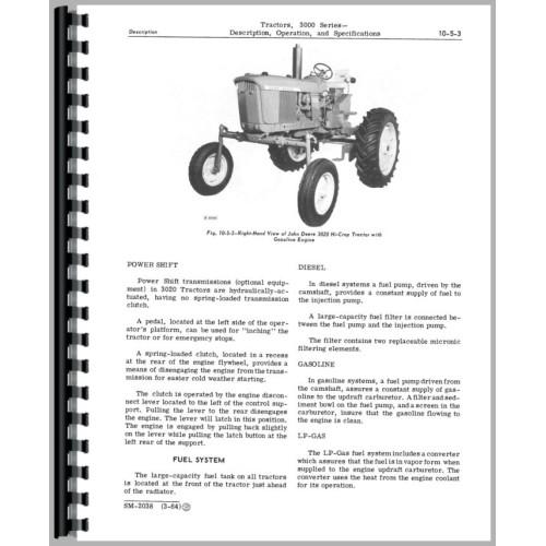 John Deere 3010 Gas Service Manual. John Deere 3010 Tractor Service Manual Rh Jensales Engine Battery Diagram. John Deere. John Deere 2840 Pto Diagram At Scoala.co