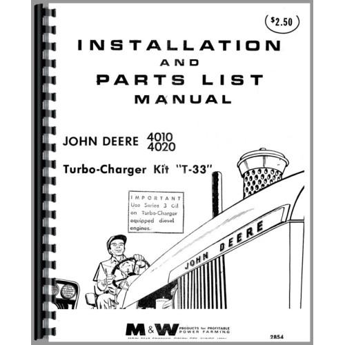 John Deere 4020 Tractor Turbo Kit Operators U0026 Parts Manual Manual Guide