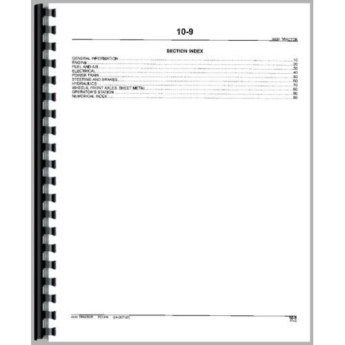 John Deere 4430 Tractor Parts Manual All