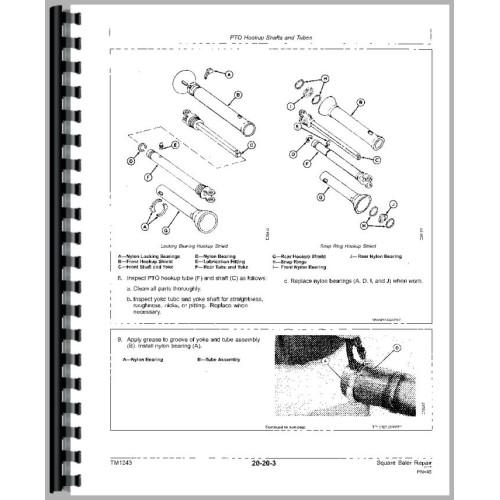 John deere 336 Baler manual