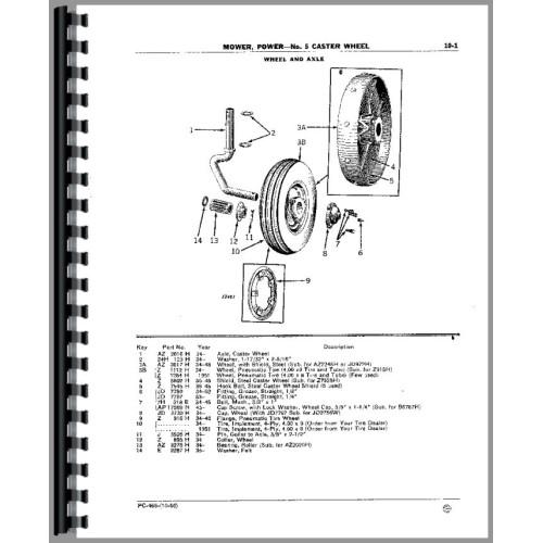John Deere Gifts >> John Deere 5 Sickle Bar Mower Parts Manual
