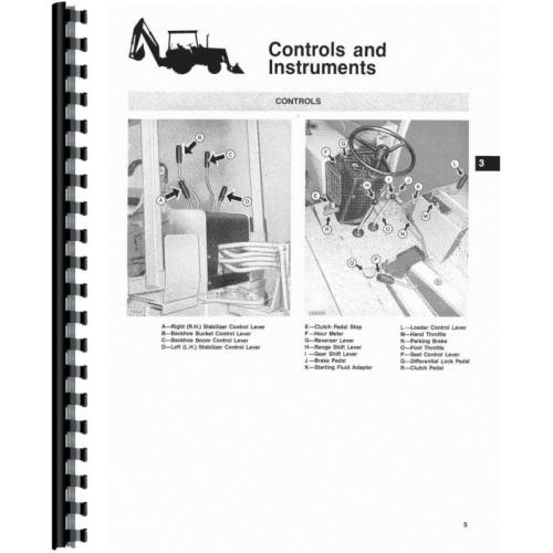 John Deere 310a Backhoe Manual Fuse box diagram