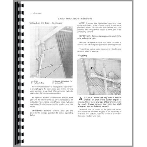 John Deere 510 Round Baler Operators Manual