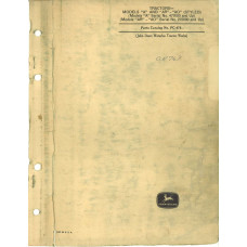John Deere AO Tractor Parts Manual (NOS)